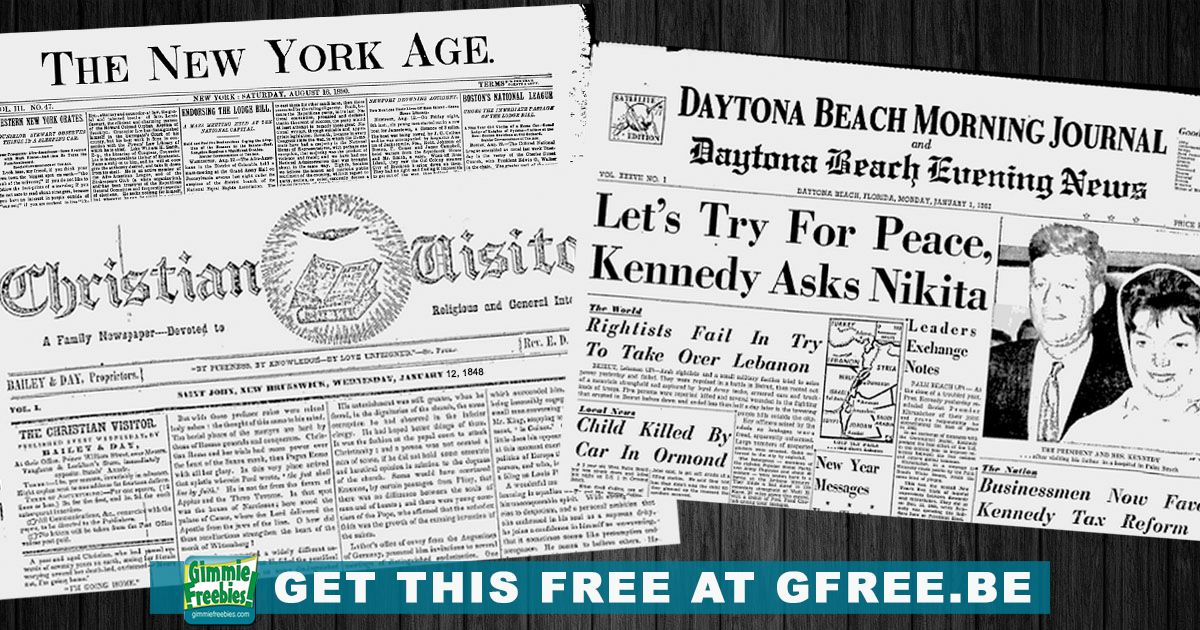 historical news newspaper archives