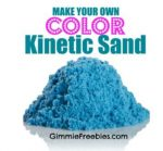Make Your Own COLORED Kinetic Sand (10 lbs for 50 cents!)