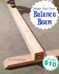 DIY Gymnastics Balance Beam at Home (under $10! EASY!)