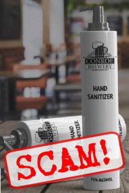BEWARE! Free Hand Cleaner from Conroe Brewery is FAKE