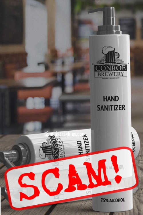 free hand sanitizer scam conroe brewery